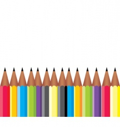 Frame of pencils vector
