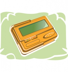 pager vector image