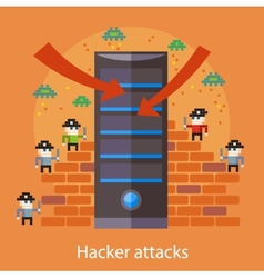 Hacker attaks vector