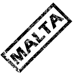 Malta rubber stamp vector