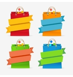 Sale bag labels set vector