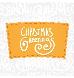 Holiday greetings lettering vector