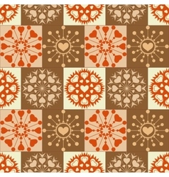 Christmas seamless pattern heart snowflakes new vector