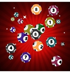 Victory ball for the game of lottery jack pot vector