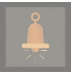 Flat shading style icon bell ringer vector