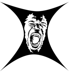 A screaming face vector image vector image
