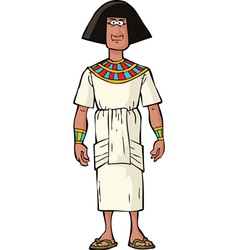 ancient egyptian nobleman vector image vector image
