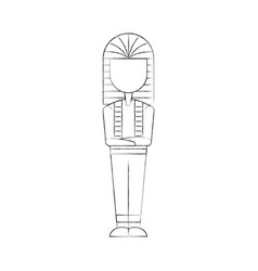 Ancient egyptian tomb icon vector