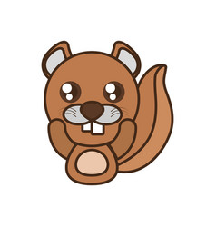 Beaver baby animal kawaii design vector