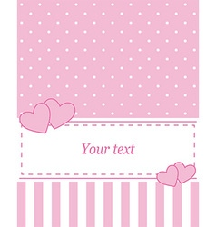 Card invitation pink vector