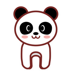 Cartoon panda animal image vector