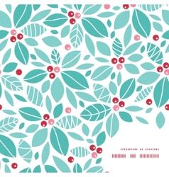 christmas holly berries frame corner pattern vector image