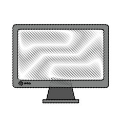 Color blurred stripe of display desk computer tech vector