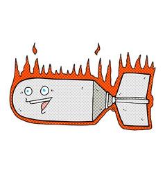 Comic cartoon falling bomb vector