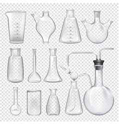 equipment for chemical laboratory different vials vector image