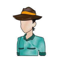 explorer man safari costume halloween celebration vector image vector image