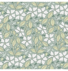 Floral seamless pattern in romantic style vector image