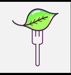 fresh leaf to prepair natural salad vector image