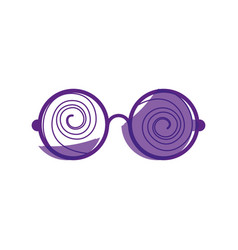 Glasses crazy object vector