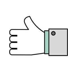 hand like symbol icon vector image