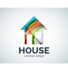 Home real estate logo template vector image