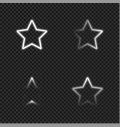 Light glowing stars templates set vector