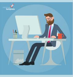 man working in office vector image vector image