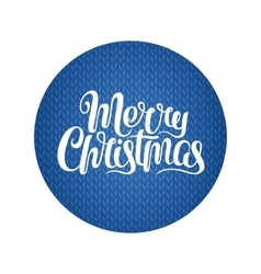 Merry Christmas text Calligraphic Lettering vector image