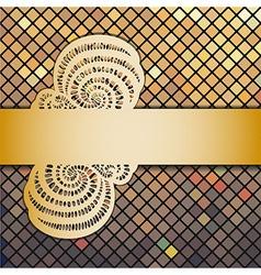 mosaic and ribbon vector image