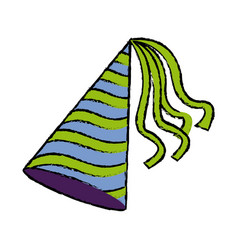 Party hat accessory symbol of the celebration vector