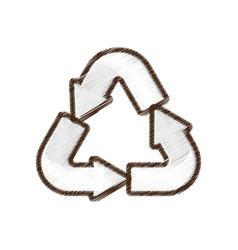 recycle arrow environment design vector image