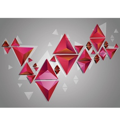 Red 3d Triangles2 vector image vector image