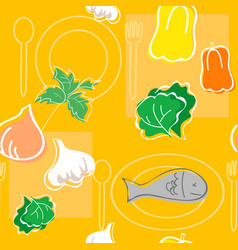 seamless pattern food vector image