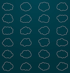 Set of cloud icons Thin line style vector image vector image