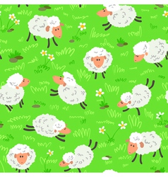 Sheep seamless vector