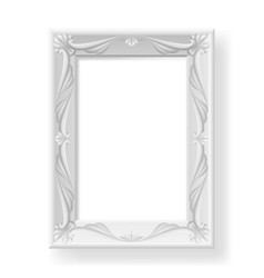 silver frame on white background for design vector image