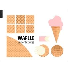 six seamless waffle vector image