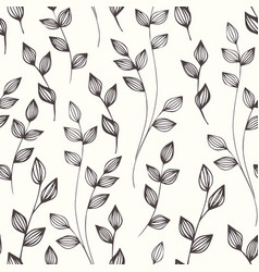 small stylized branches hand drawing seamless vector image vector image