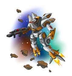 Space flying robot vector image vector image