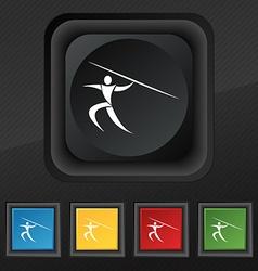Summer sports javelin throw icon symbol set of vector