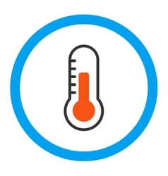 Temperature rounded icon vector