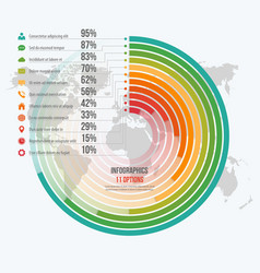 template for circle informative infographics vector image vector image