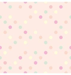 Tile polka dots on pastel pink pattern vector image vector image