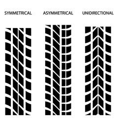 Tyre symmetrical asymmetrical unidirectional vector