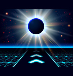Unknown planet eclipse abstract cosmic background vector