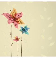 Floral retro background Eps10 vector image