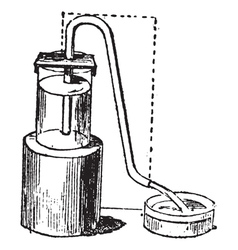 Siphon vintage engraving vector image