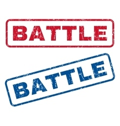 Battle rubber stamps vector