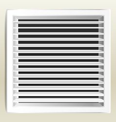 Photorealistic bathroom ventilation window vector image
