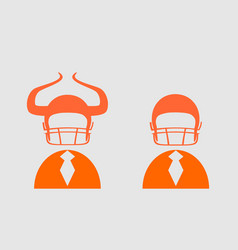 businessman 3d icon with american football helmet vector image